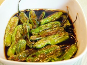Blistered and Marinated Shishito Peppers