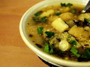 Parsnip Quinoa Soup