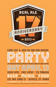 17th Real Ale Anniversary Party!