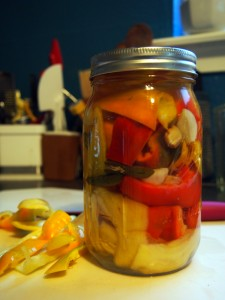 Ginger Pickled Sweet Peppers